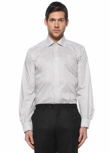 Eton Eton  Modern Yaka Mikro Desenli Gömlek 101615569 Beyaz